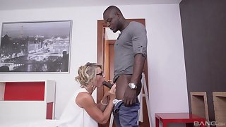 Black hunks fucks married mature and cums on her glasses