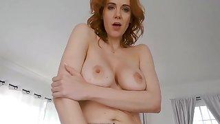 Redhead stripper fingering pussy