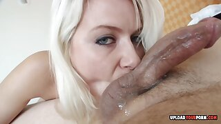 Aunt munches on my knob for fun