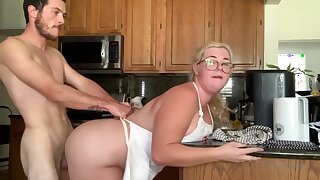Chubby Sex In Kitchen