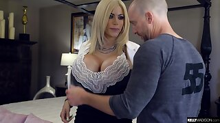 Blonde with huge bust Amber Alena is fucked and creampied by Ryan Madison