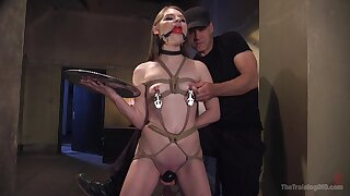 Small tits hottie Alice March gets tied up and tortured by a perv