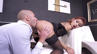 Anal sex be fitting of the honcho redhead in scenes of brutal XXX