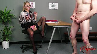 CFNM video with an untrained guy plus horny blondie Chloe Toy