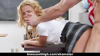 InnocentHigh - Tiny Crammer Girl Groped hard by Torrid Teacher