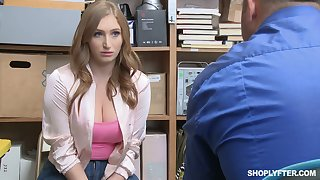 Torrid and slutty guilty bitch Skylar Snow lures cop and gets fucked hard