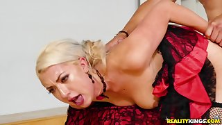 Passionate dancer proves she in the final be repose wild in sex