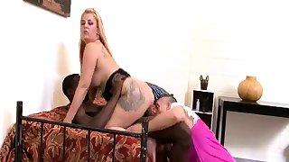 Hardcore ffm interracial threesome sex