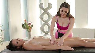 Sensually pleasant to watch lesbian massage with hot Valentina Nappi